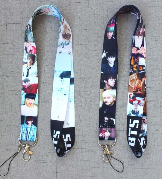10 adet Pop yıldız BTS BOY İpi Cep Telefonu KIMLIK Kartı Anahtarlık Tutucu kız hediyeler