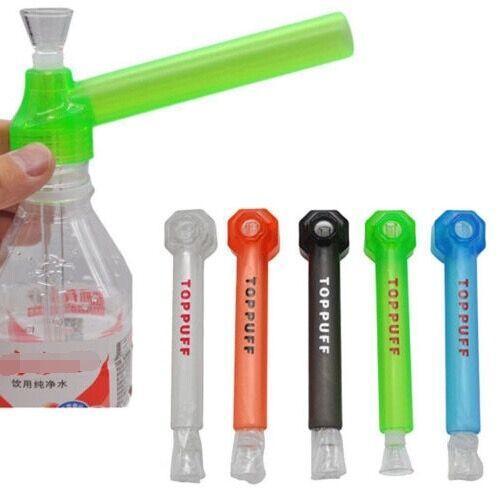 Portable Top Puff Acqua Narghilè Vite su Bottle Converter acqua tubo fumo tabacco toppuff titolare di erbe narghilè