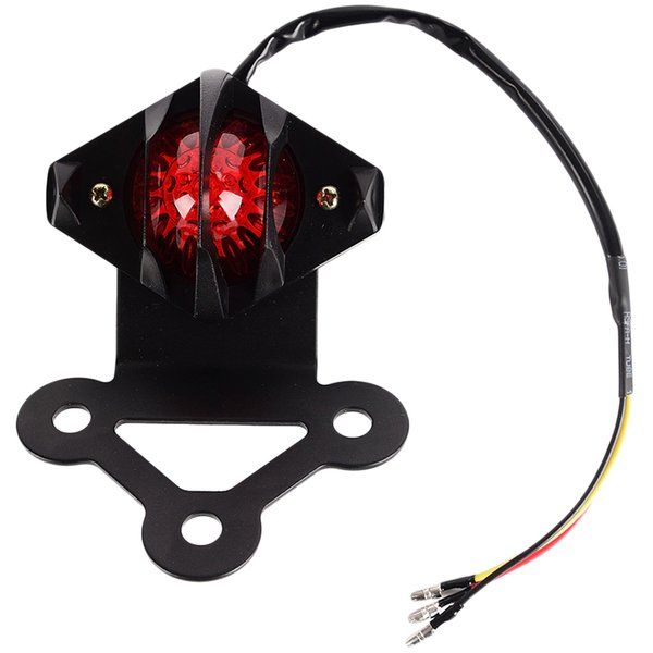 Motorcycle LED Brake Parar Taillights Mini License Plate Titular taillamp