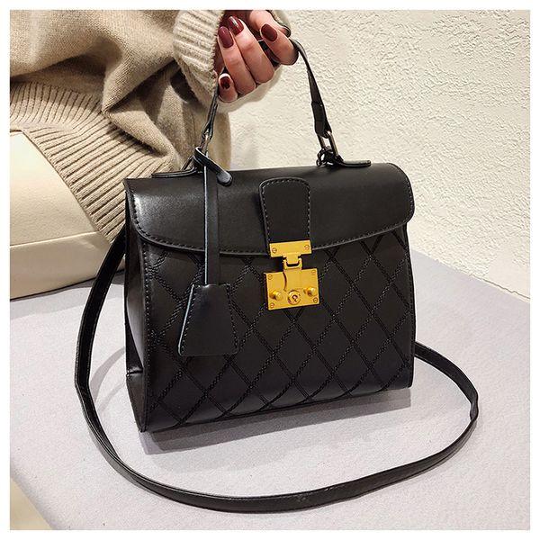 Bloqueio de couro Ombro sacos de Strap sacos de Ombro Cruz bolsa Corpo Bolsa Feminina Daidai wanggong / 1