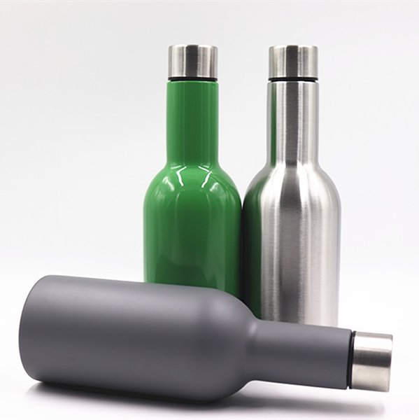 Stainless Steel Vacuum Bottle 500 Ml Outdoor Hiking Camping Portable Cup Green Gray Silvery Practical Tumbler Hot Sale 23sxD1