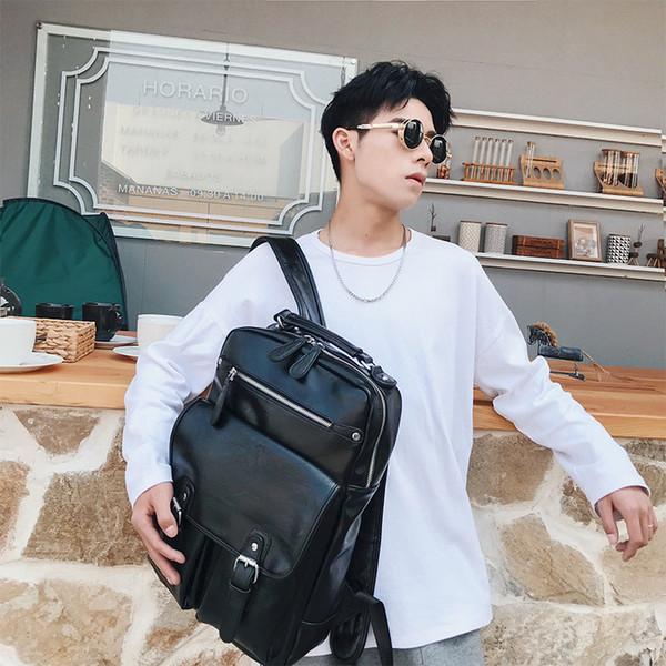 bolsa de ombro dos homens de computador onda de lazer coreano sacos de grande e médio porte de viagem sacos de estudantes de moda
