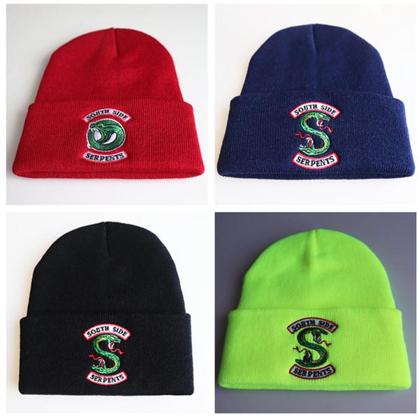 Riverdale Cotton Casual Bonnets pour Hommes Femmes Tricoté Chapeau D'hiver Solide Hip-hop Skullies Bonnet Unisexe Cap LE392