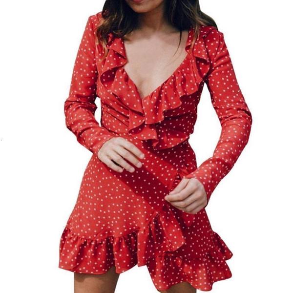 Femme Robes Vêtements pour femmes Star Print femmes Robe sexy col V profond à manches longues femme été décontracté plage Mini Les vêtements Designer Robe