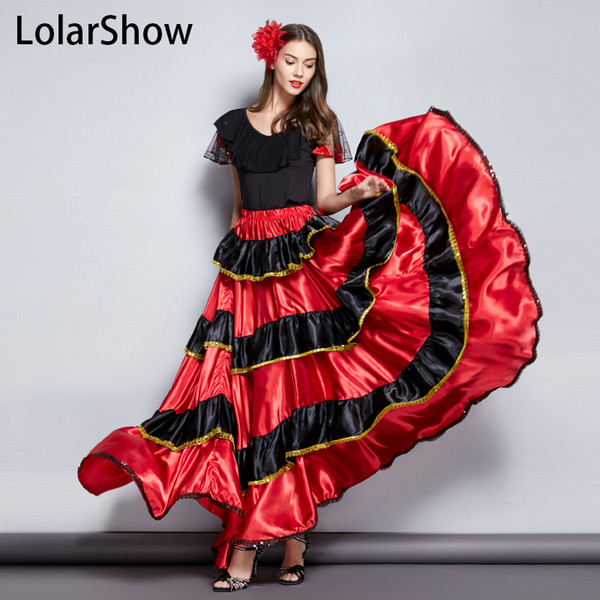 Zigeuner Tanz Kostüm Langer Rock Flamenco Tanz Rock Bauch Für Mädchen