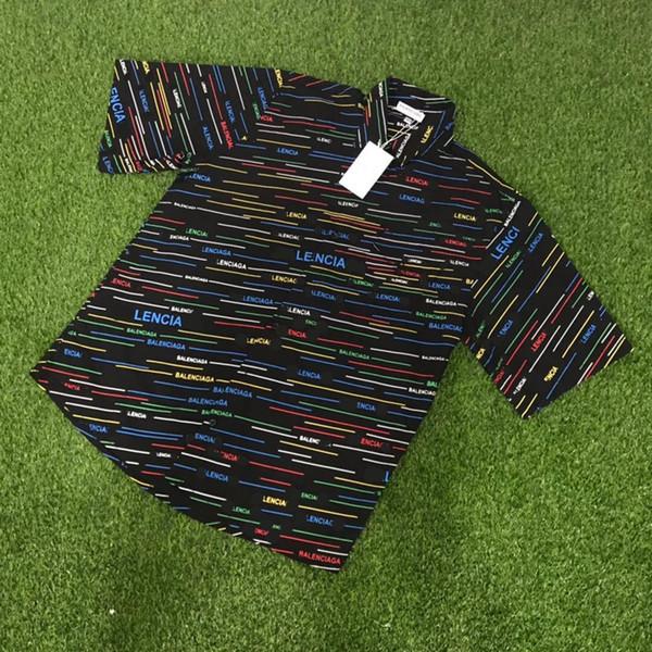 19SS BLCG LOGO Hemd Mantel Tops Luxus Frühling Herbst Männer Frauen Mode Mantel Lässig Straße Sonnenschutz Kleidung Outwear Jacke HFLSCS019