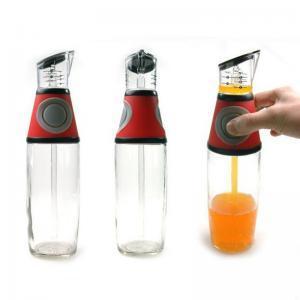Glass controlled oil bottle push controllable oiler cruet vinegar sauce bottle Measuring oil bottle kitchen good helper WWA127