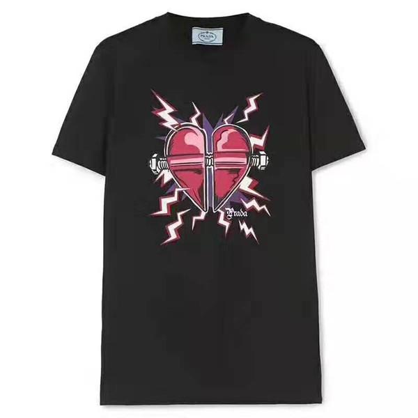 A0104 Женщины 2019 мода Xindian любовь мода печатных футболка с коротким рукавом