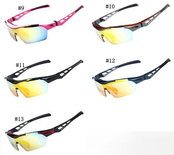 Mens Womens Polarized Cycling Sunglasses Outdoor Sports Bicycle Sunglasses Bike Sunglasses with 5 Lenses 13 colors MMA1663
