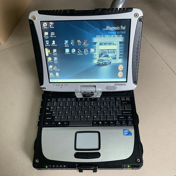 mb stern c3 hdd 120 gb mit laptop cf19 touchscreen computer stern diagnose dhl free pc