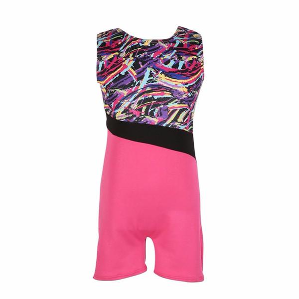 Summer Kids Girls Sleeveless Ballet Leotards Gymnastic Ballet Tutu Dancewear Gilding Dance Wear