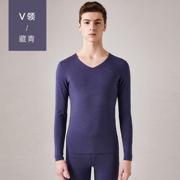 homens # 039; s azul V-pescoço-marinha