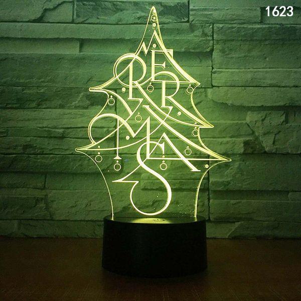 Albero di Natale Pupazzi di neve Animale Cartoon Insetto Personaggio musicale Illusione 3D Lampada LED Luce notturna Mini luci notturne alimentate tramite USB colorate