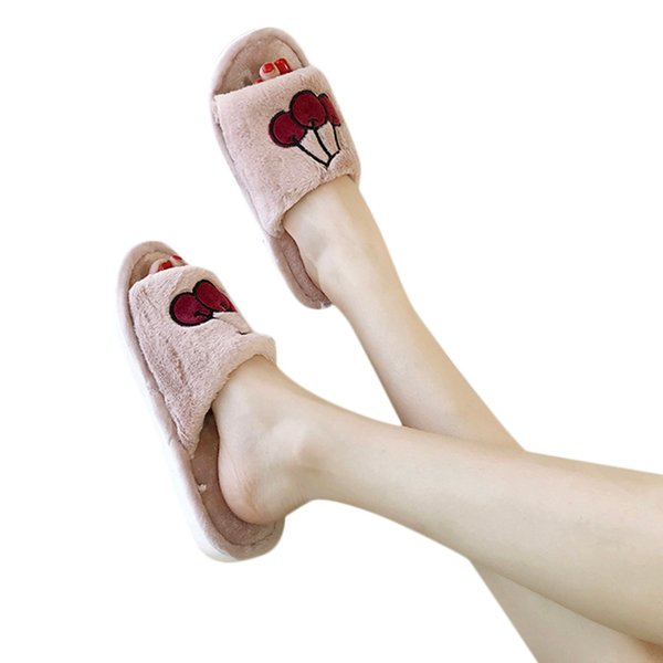 YOUYEDIAN flip flop sandals for women Casual Fruit Slippers Non-Slip Shoes Wild Slippers Home pantufa inverno #G30