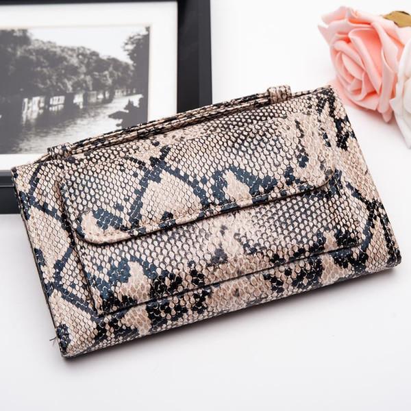 Nice2019 цепь змея мэм рука взять пакет женские синглы плечо сумка воловьей кожи длинный Фонд кошелек
