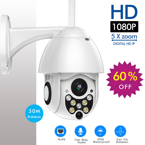 Outdoor 1080p PTZ Camera Wifi Security Camera Pan Tilt 5X Zoom IR Network CCTV Surveillance 720P