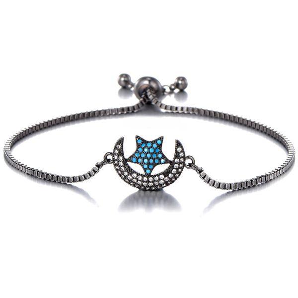 moon full of diamond bracelet DIY bracelet simple fresh young girl heart jewelry wholesale