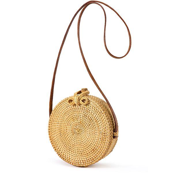 LOVEVOOK women rattan bags round straw messengser bags handmade woven beach crossbody bags vintage handbags summer 2018
