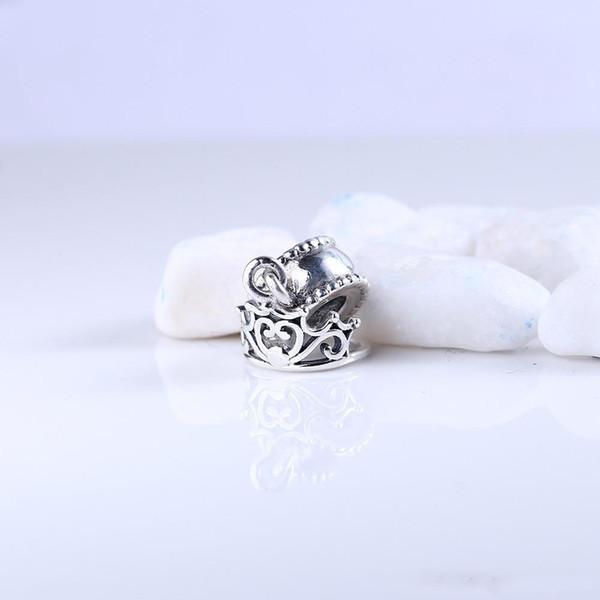 Корона Стиль One Мотаться Шарм Бисера Стерлингового Серебра 925 Мода Женщины Ювелирные Изделия Европейский Стиль Для DIY Браслет Браслет