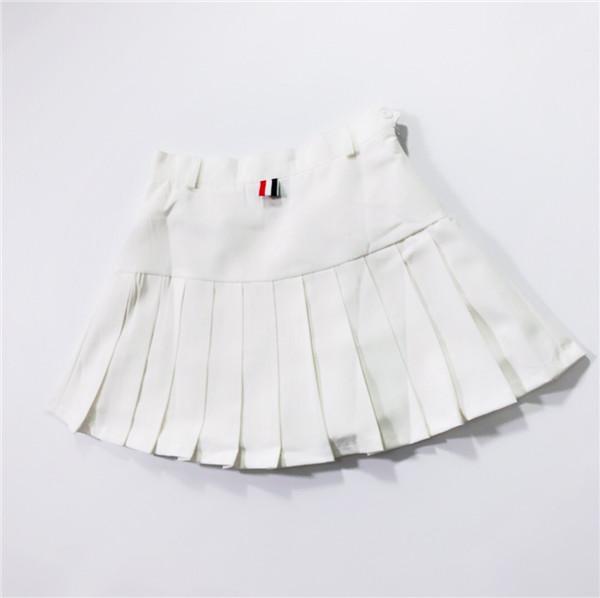 best selling 19ss Summer Designer Luxury tb thom A-shaped half-length pleated skirt Women fashion Street breeze sport Jogger Sweatpants Outdoor shorts