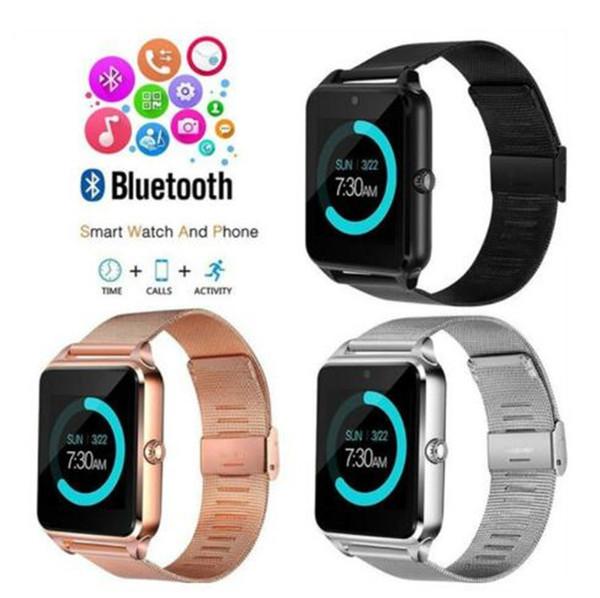 Luxe Bluetooth Montre Smart Watch Z60 SmartWatch téléphone NFC Support SIM Carte TF Dispositifs Portable SmartWatch Pour iOS Android VS Q18 montres intelligentes