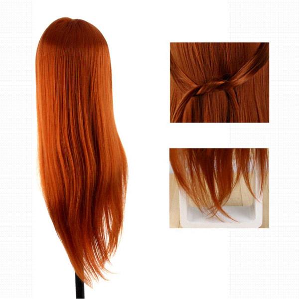 60 cm Peluquería Muñecas Styling Mannequin Cabello largo Entrenamiento de práctica Cabeza humana Salón profesional Hair Styling Head + Clamp Set