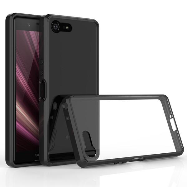 Hot 2019 nuova custodia per cellulare compatta Sony Xperia XZ4 compatta custodia protettiva trasparente anticaduta due in uno