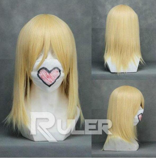 YU Wig Hetalia Axis Powers Felix Lukasiewicz /Kingdom Hearts Namine Cosplay Wig free shipping