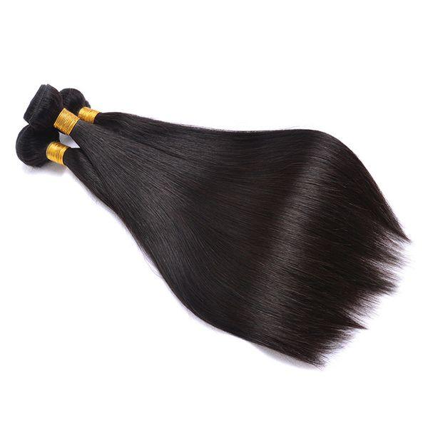 Tessuto dei capelli umani vergini brasiliani 3 pacchi dritti, economici prime estensioni dei capelli di Remy peruviano all'ingrosso Prezzo all'ingrosso, comprare reale indiano naturale Co