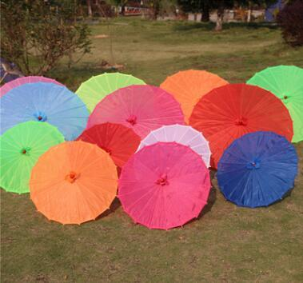 Free shipping Small & big Chinese colorful Umbrella China traditional dance color parasol Japanese silk props