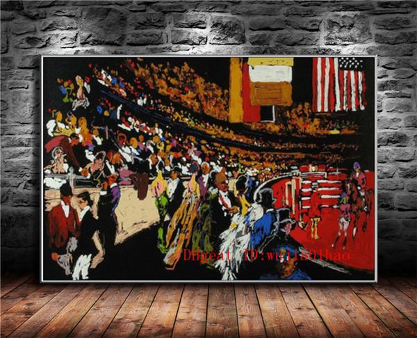 Acheter Monde Lumineux Peinture à L Huile De Peinture à L Huile Moderne D Art De Mur De Salon De Salon De Décoration De 6 44 Du Wujia01hao