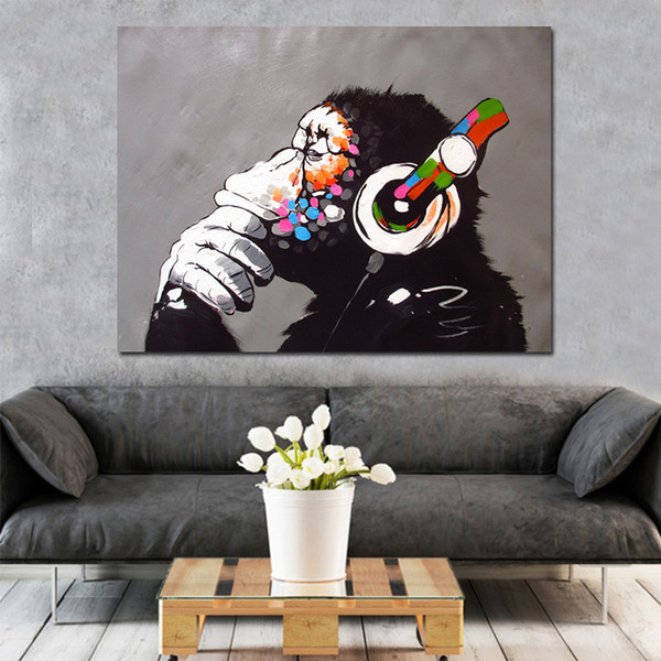Abstract Monkey DIY Painting By Numbers Home Wall Art Picture Paint By Numbers Calligraphy Painting 40x50cm Artwork Home Decor