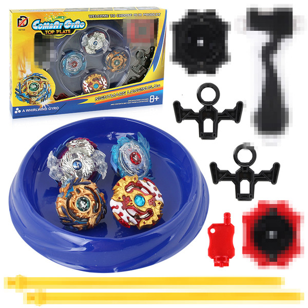 Spins Top Gyros Set Stadium Arena Toys 168-6 Metal Fight 4D Fusion With Launcher Handle Spinning Top Toys Gifts #E SH190910