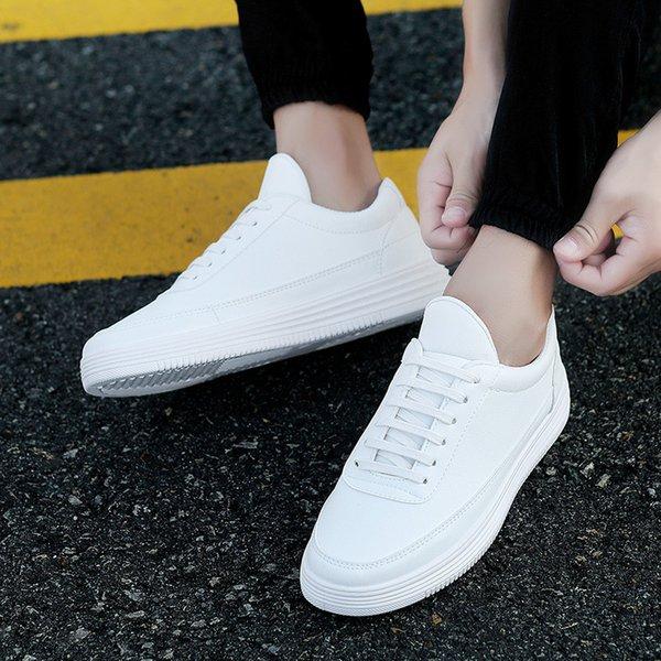 Acheter 2019 Chaude Nouveau Motif Petites Chaussures Blanches Homme Littérature Vent Casual Chaussures Coréenne All Match Chaussures Tendance Mâle