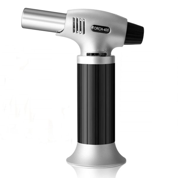 1300°C jet torch kitchen Lighter cooking Culinary Refillable Adjustable Flame Lighter with Safety Lock for DIY Creme Brulee BBQ and Baking