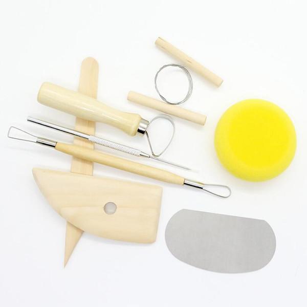 best selling 8pcs set Reusable Diy Pottery Tool Kit Home Handwork Clay Sculpture Ceramics Molding Drawing Tools LX4919