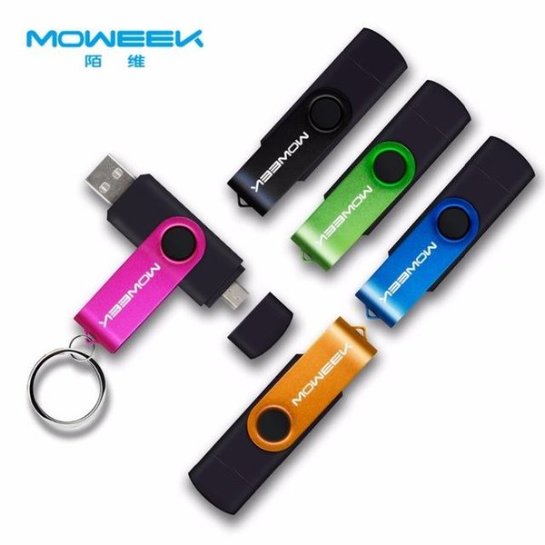 High quality Moweek Multifunctional USB Flash Drive 128gb 64gb cle usb stick 32gb Pendrive 16gb 8gb 4gb usb 2.0 memory stick for android