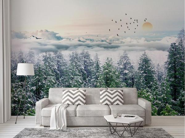 [Auto-adesivo] 3D Forest 173750 mural de papel de parede mural de impressão de parede decalque