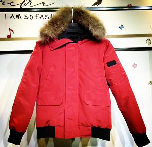 Para hombre del diseñador de moda de invierno abrigos de marca de Down Parkas acanalado manga larga con capucha Windbreakers Outerwears con FursM70