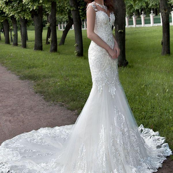 Robe de Soiree 2019 vestido de novia de sirena de encaje vestidos de novia de novia Vestidos de novia Vestido de Noiva