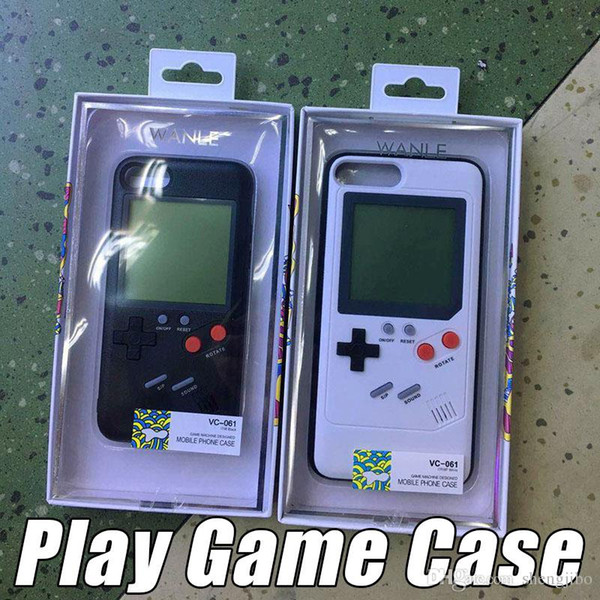 20PCS/Lot Retro Game Tetris Phone Cases Play Game Console Cover Shockproof Protection For iPhone X 8 7 6 Plus with retail box
