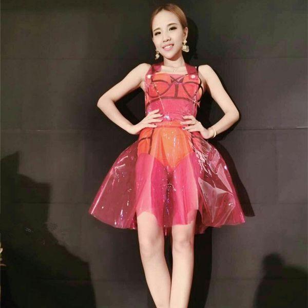 ce1c7eb499 2019 Sexy Pvc Holographic Dress Women\X27s Dress Vestido Summer Dress Women  Clear Pvc Vinly Plastic Clothes Vestidos Verano 2018 Y190410 From ...
