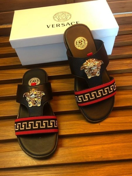 2019 men's fashion sandals and slippers using imported open edge beads forever