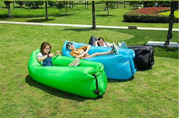 Fast Inflatable Lazy Bag Sleeping Air Bag Camping Portable Air Sofa Beach Bed Air Hammock Banana Sofa For Outdoors Free Shipping
