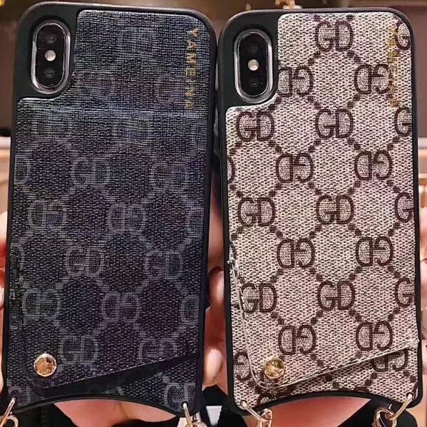 Iphone XsMax Cases New Lanyard Diagonal Chain IPhone Mobile Phone Case For IphoneXs Max Cases 6/7/8p/XR/X