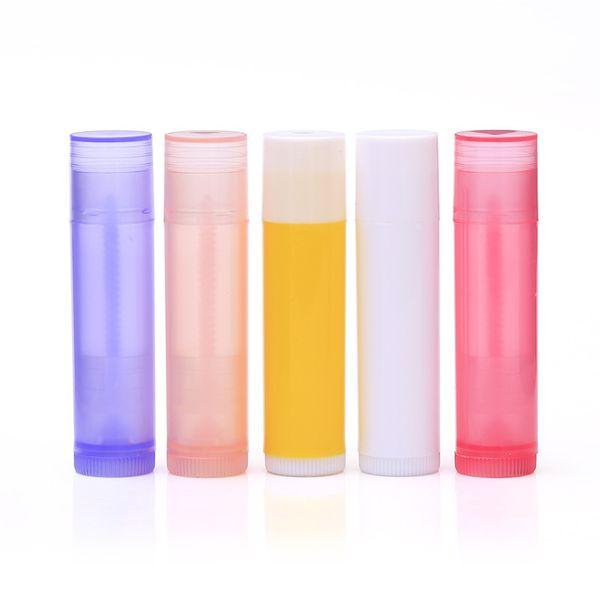 100 PCS Cosméticos Vazias Chapstick Lip Gloss Tubo de Batom com Tampas Recipiente Bico Garrafas Recarregável Para DIY HB88