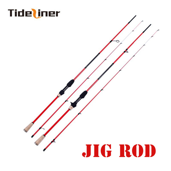 Tideliner Jig Fishing Rod 1.98m 30T Carbon Fiber Spinning Casting Lure Rod Lure Weight 3-22g 2 Sections Fast action rock rod