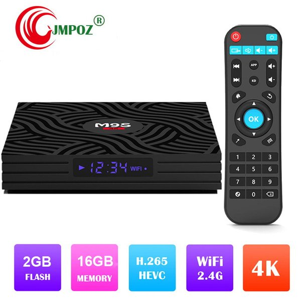 1 PCS M9S W6 Android 7.1 TV Box 2GB 16GB Amlogic S905W Quad Core CPU 2.4G WiFi Android 7.1 Set Top Boxes Media Player Better H96 MAX S905X2