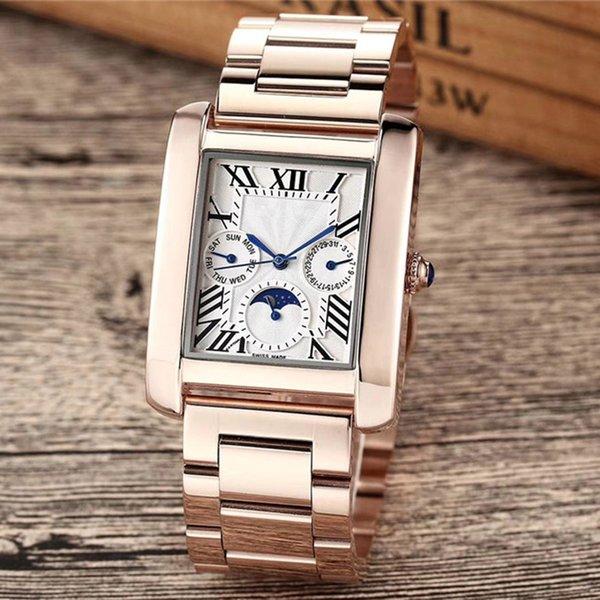 Top marca uomo donna orologi di alta qualità funzionale sub quadrante opere giorno data chiusura originale cassa in acciaio inossidabile orologio design impermeabile
