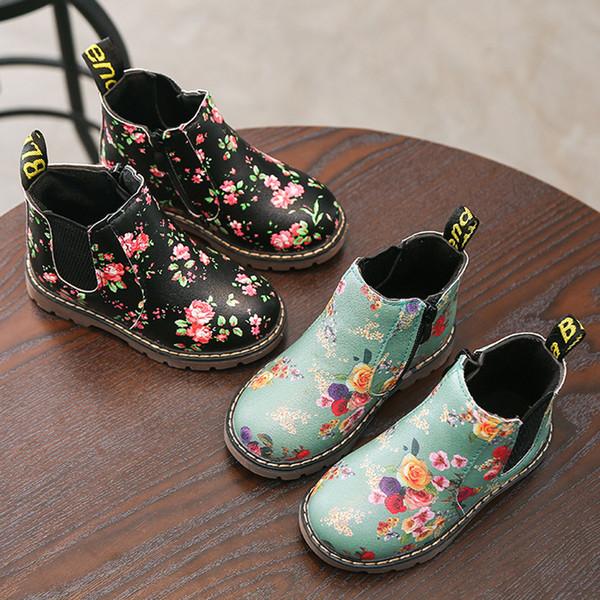 Çocuk Moda Erkek Kız Martin Sneaker Kış Kalın Kar Bebek Rahat Ayakkabılar Buty Moda Çocuklar Ayakkabı